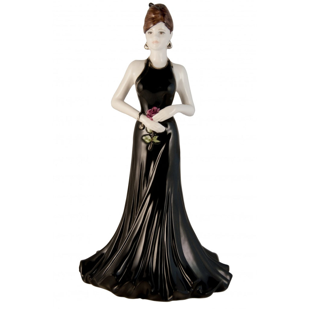 Coalport Ladies Of Fashion Stunning In Black Figurine