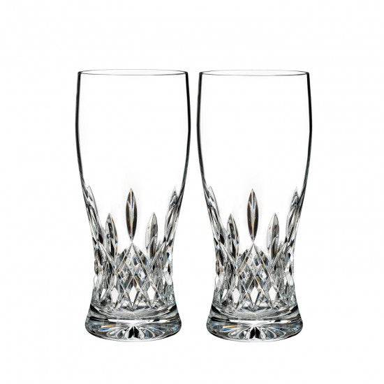 Waterford Lismore Pint Glass Set of 2