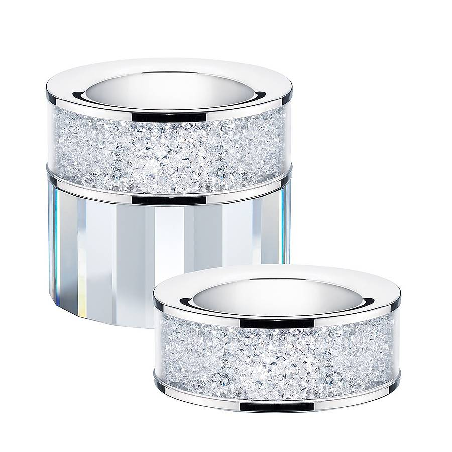 Swarovski Tea Light Holder Filled With Swarovski Crystals