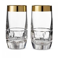 Waterford Mixology Mad Men Edition Olson HiBall with Gold Band, Pair