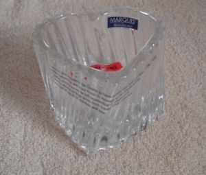 Waterford Heart Votive Candle Lead Crystal