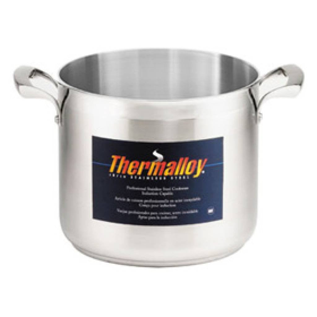 Thermalloy - 8QT Commercial Grade Stainless Stock Pot - Kitchen Smart