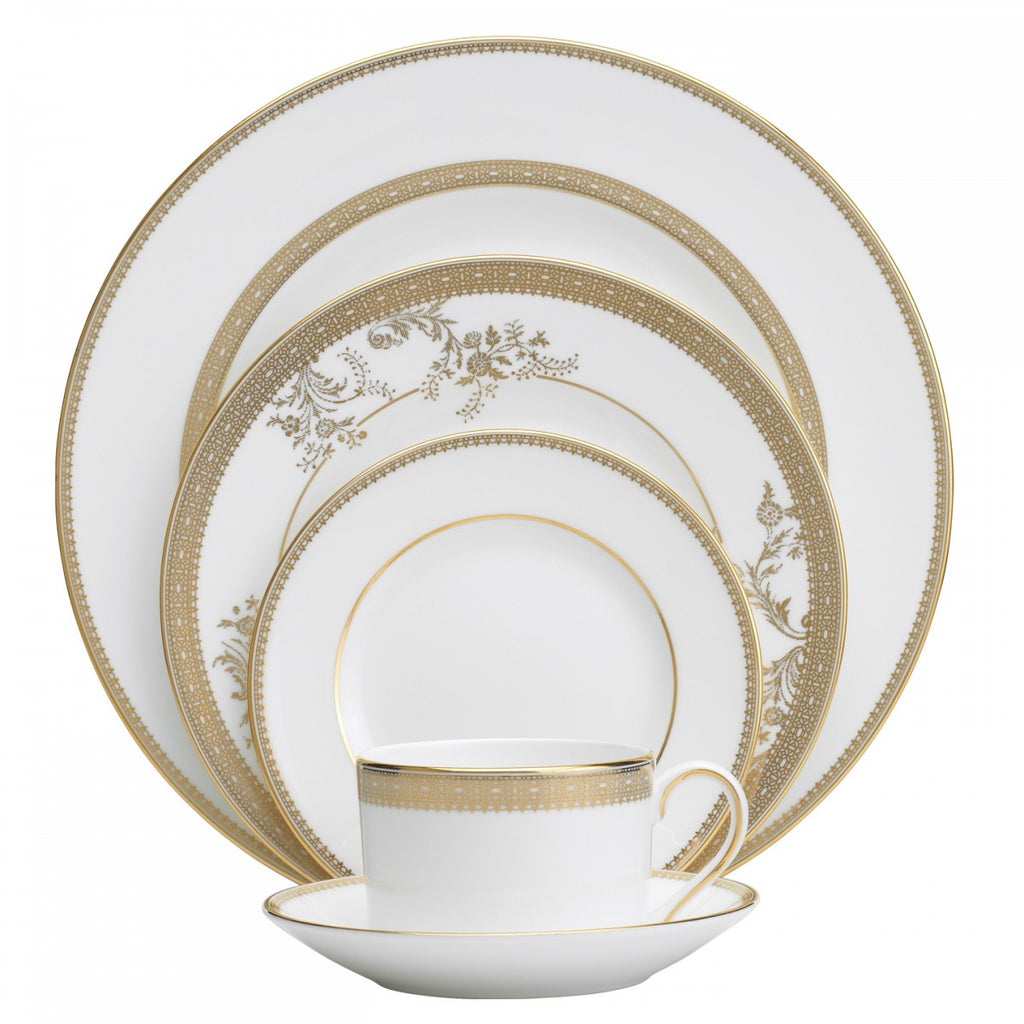 VERA LACE GOLD 5-PIECE PLACE SETTING
