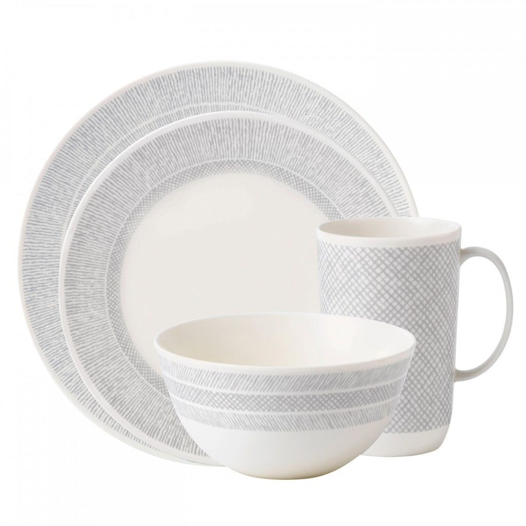 VERA SIMPLICITY CREAM 4-PIECE PLACE SETTING