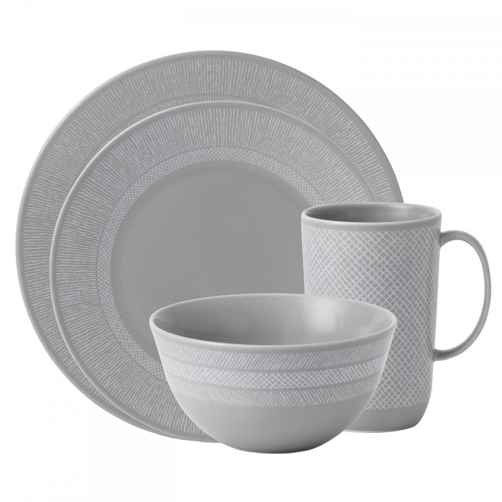 VERA SIMPLICITY GRAY 4-PIECE PLACE SETTING