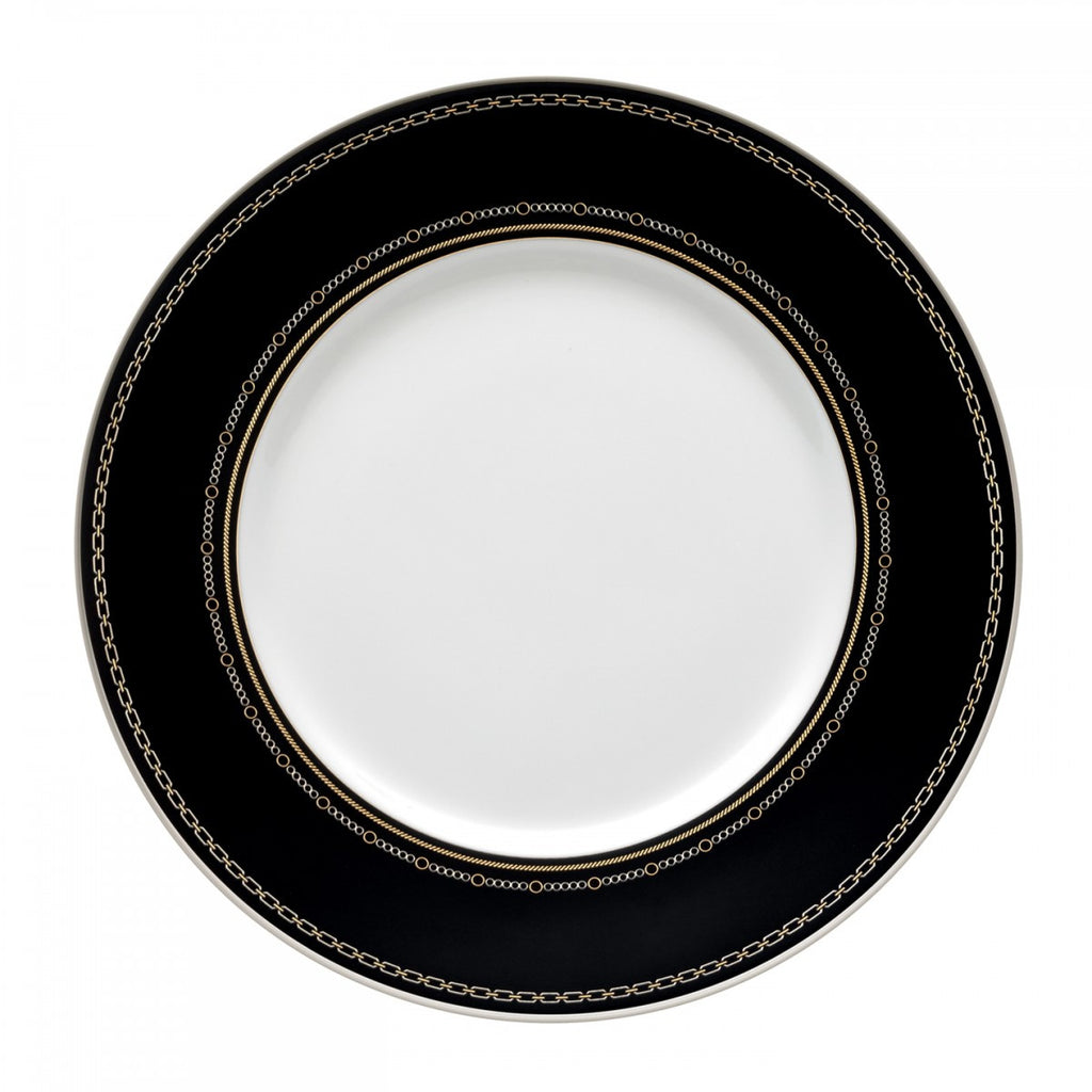 WITH LOVE NOIR ACCENT SALAD PLATE 9""