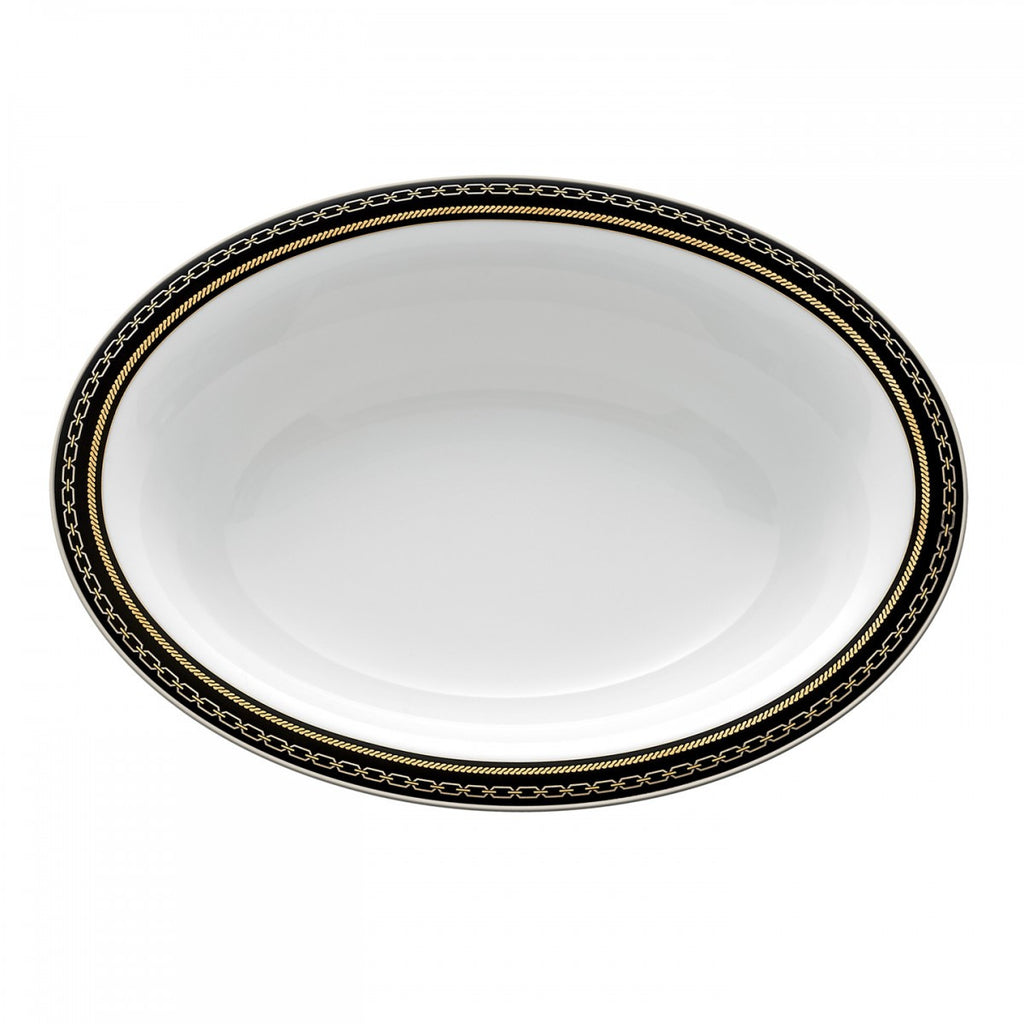 WITH LOVE NOIR OPEN VEGETABLE BOWL OVAL 9.75""