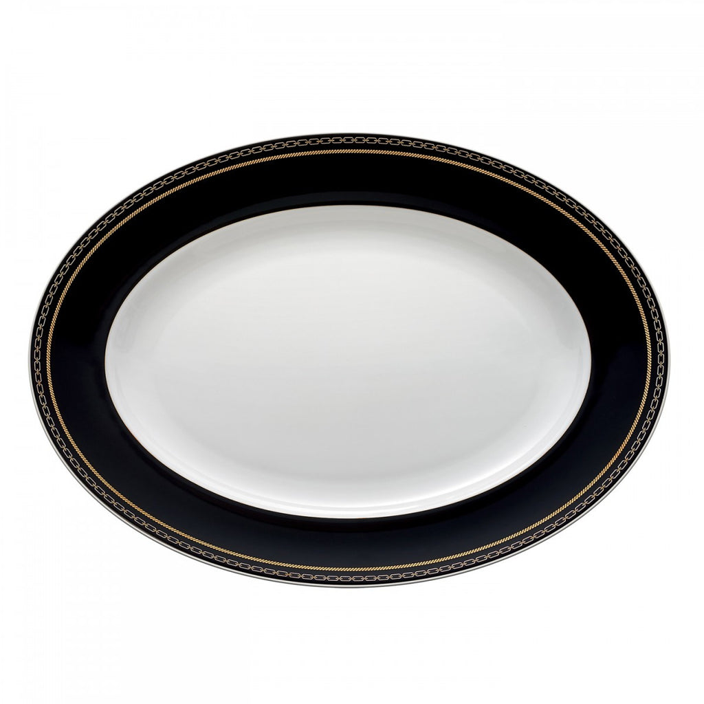 WITH LOVE NOIR OVAL PLATTER 13.75""