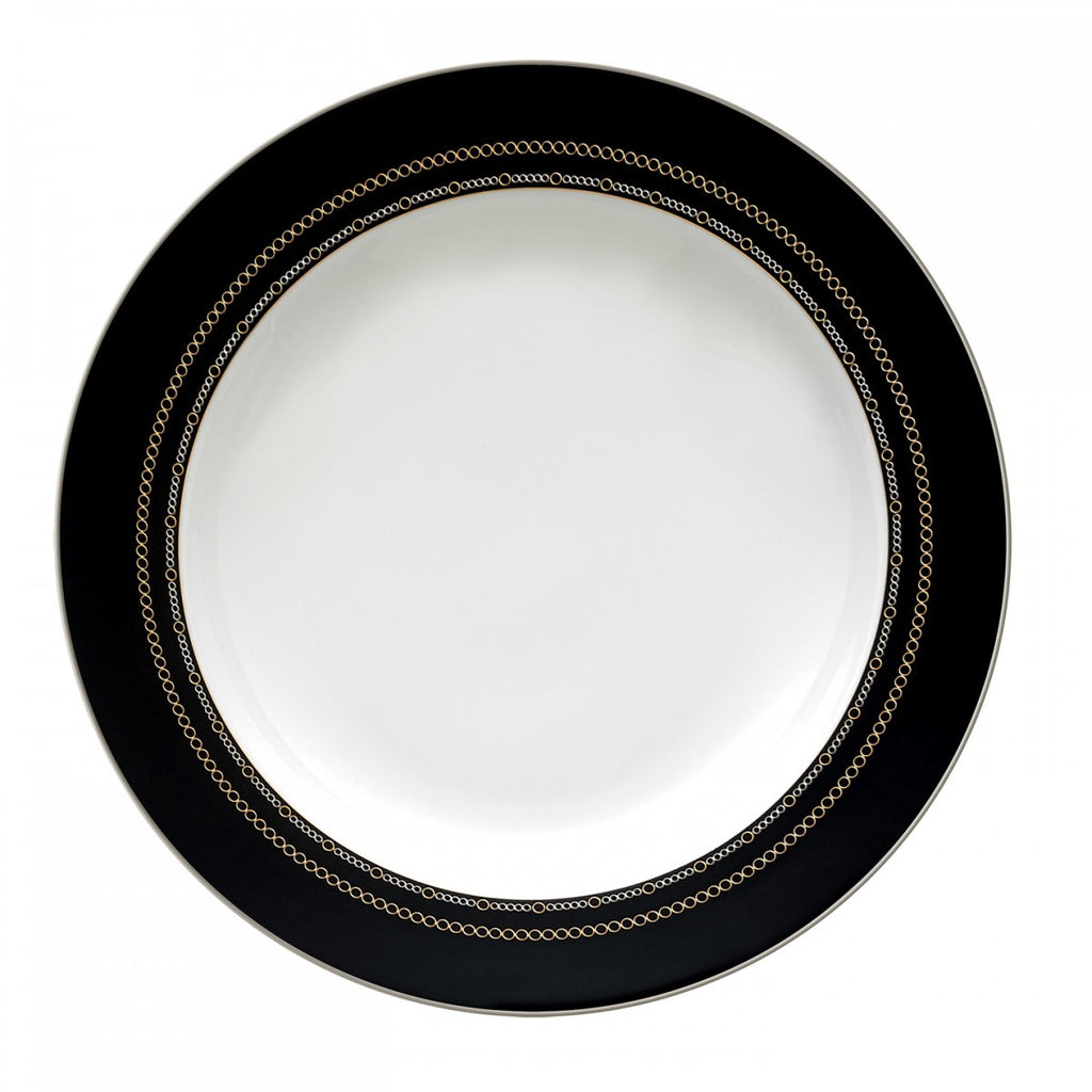 WITH LOVE NOIR RIM SOUP PLATE 9""