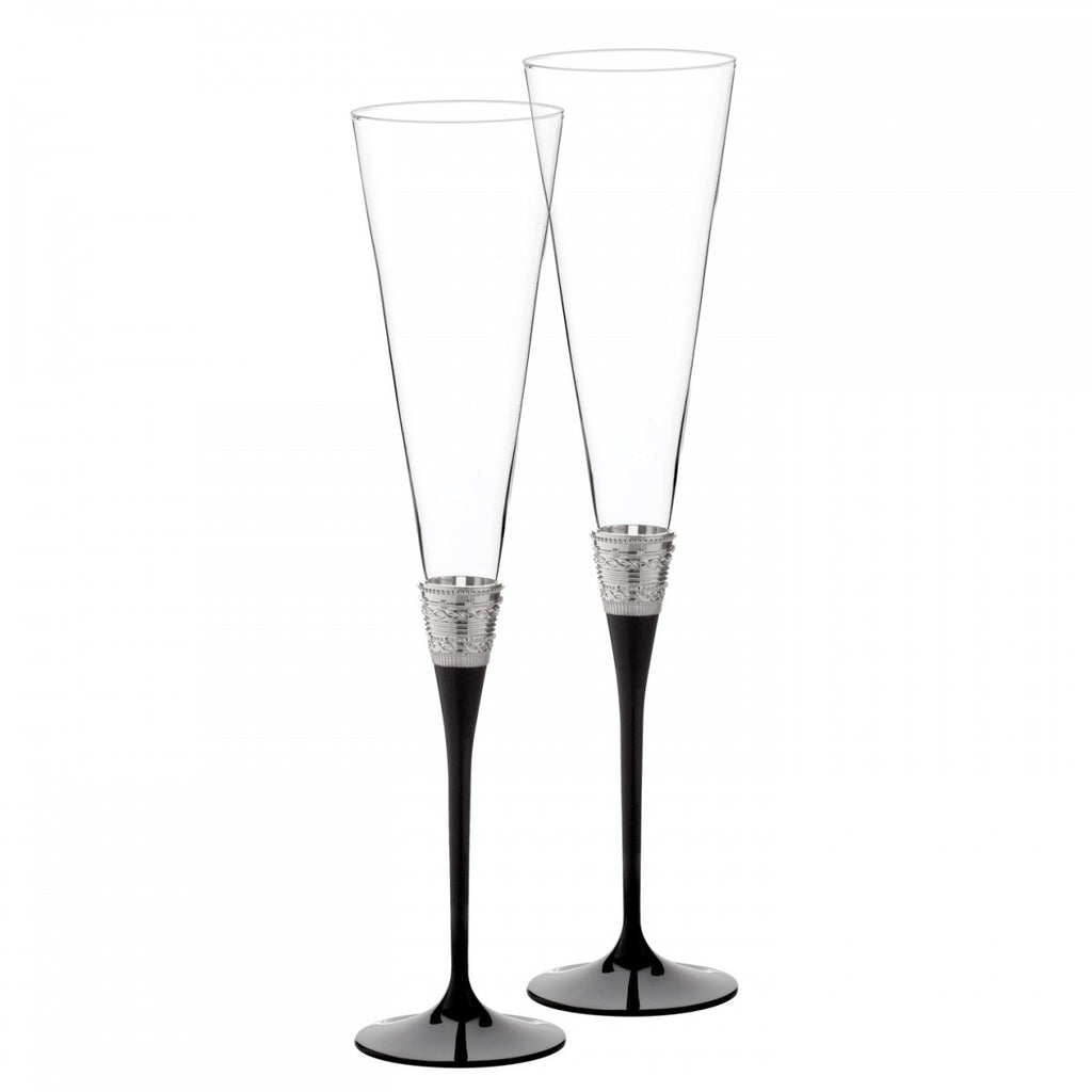 WITH LOVE NOIR TOASTING FLUTE PAIR