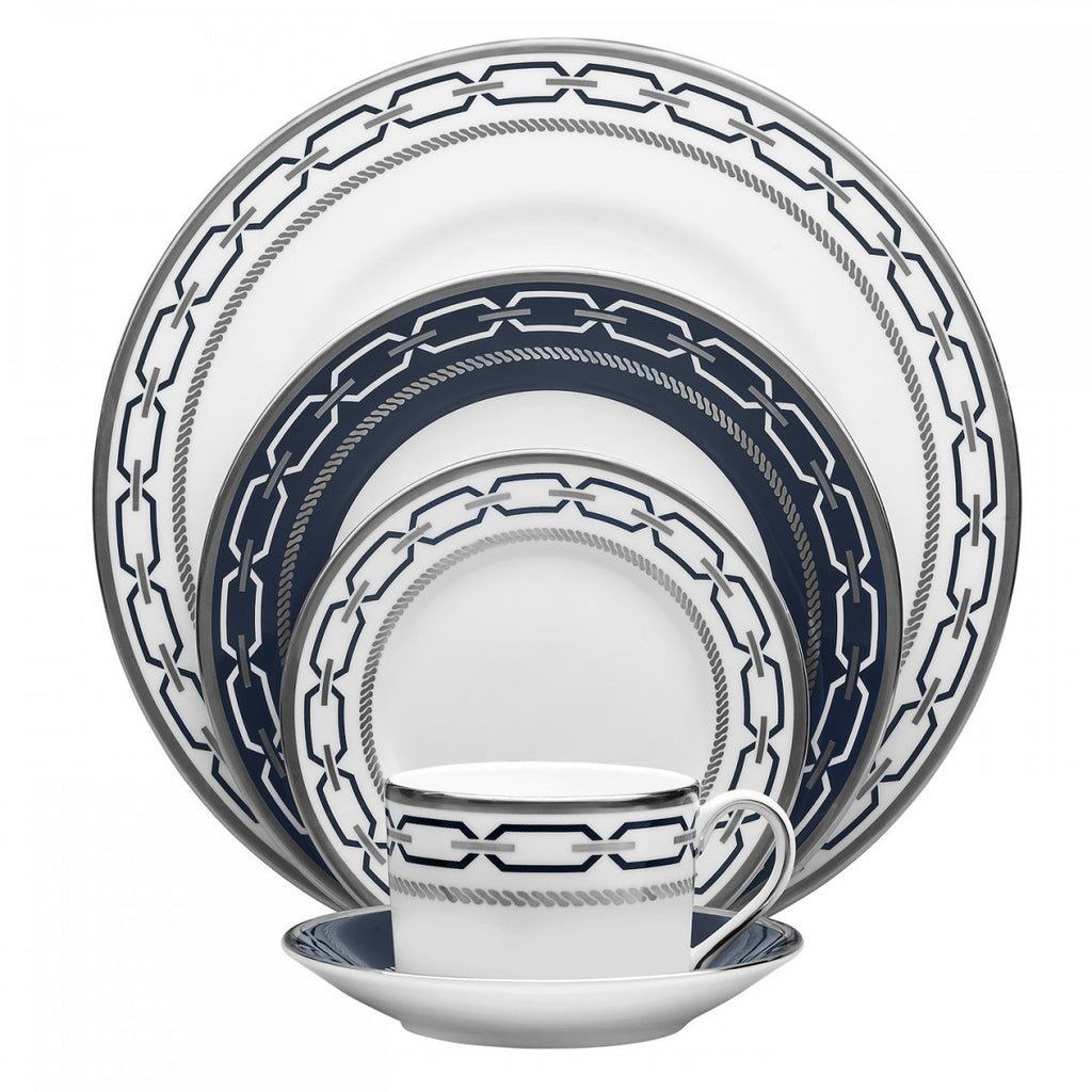 Wedgwood WITH LOVE NOUVEAU INDIGO 5-PIECE PLACE SETTING