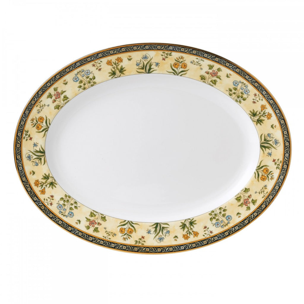 INDIA OVAL PLATTER 15.25""