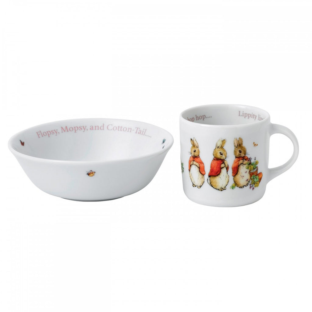 PETER RABBIT GIRL'S 2-PIECE SET (BOWL & MUG)