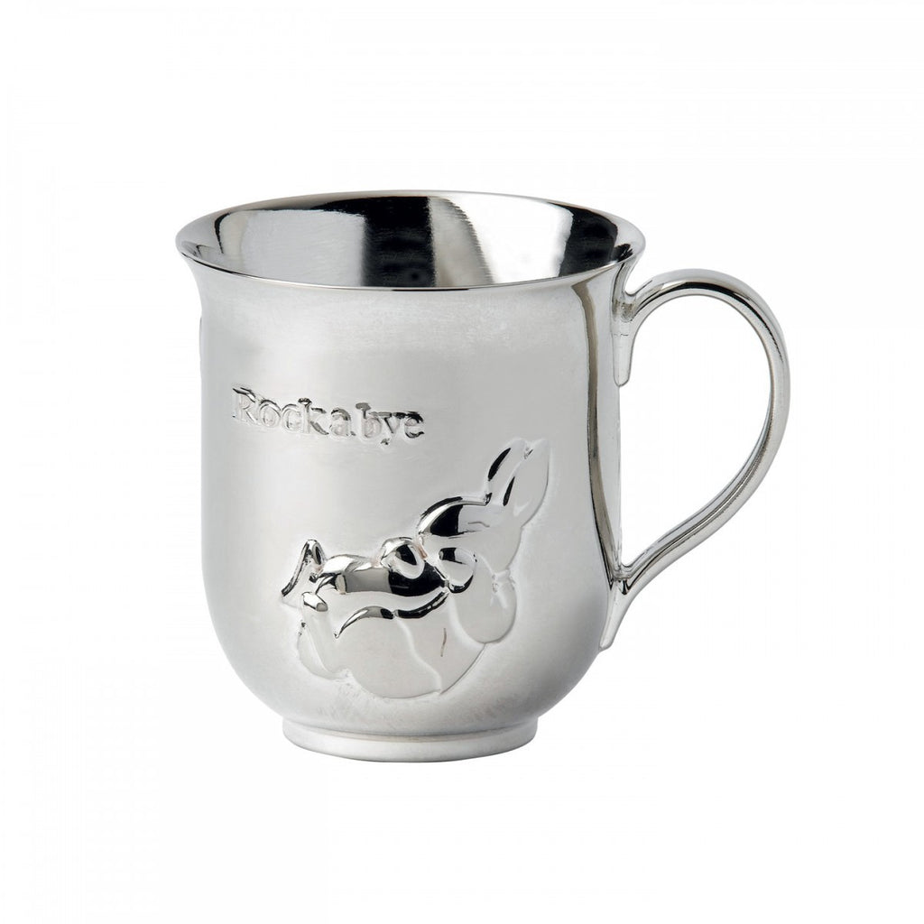 PETER RABBIT SILVER BABY CUP 3.2""