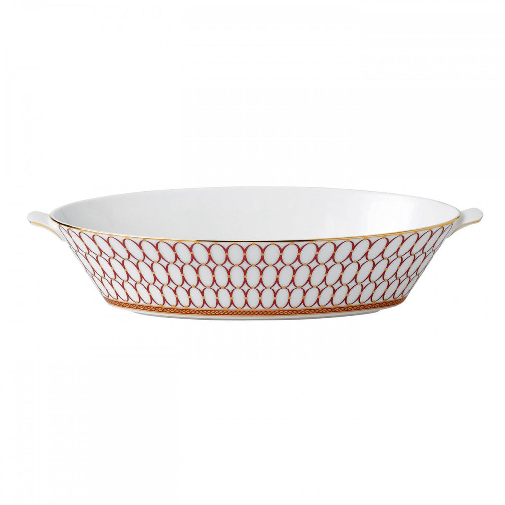 RENAISSANCE RED OVAL SERVING BOWL 1.3 LTR