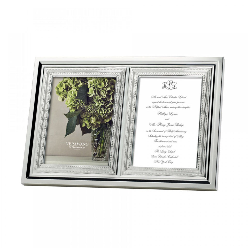 WITH LOVE FRAME DOUBLE INVITATION 5X7""
