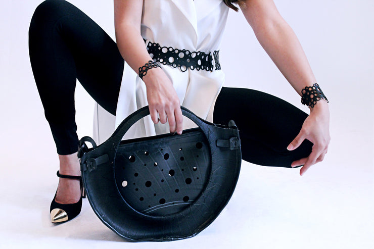 upcycled vegan accessories made from tire tubes