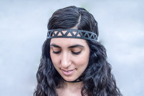 chic made consciously eco friendly headband handmade from repurposed tire inner tubes