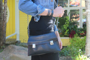chic made consciously bag made from tire inner tubes