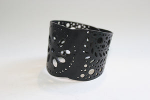 chic made consciously repurposed unisex funky flower bracelet made from tire inner tubes