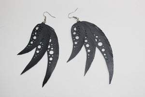 chic made consciously feather droplets earrings made with love in Bali