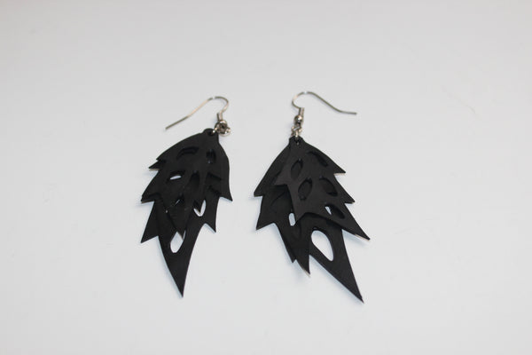 Triple Leaf Earrings