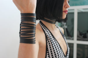eco-friendly upcycled bracelet made from tire tubes