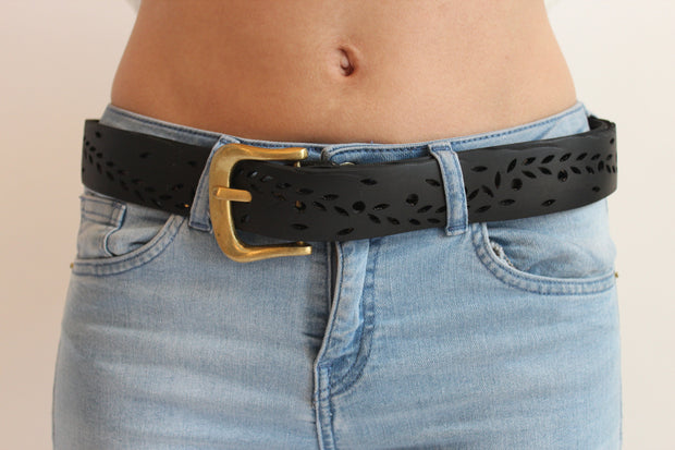 chic made consciously sustainable belt made from repurposed tire tubes