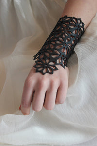 chic made consciously eco friendly flower bracelet made from tire inner tubes