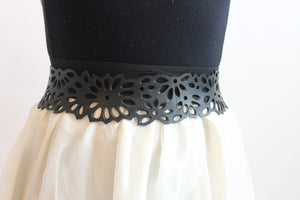 chic made consciously eco friendly flower belt made from tire inner tubes in Bali