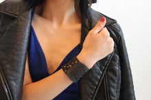 chic made consciously sustainable bracelet made from repurposed tire inner tubes