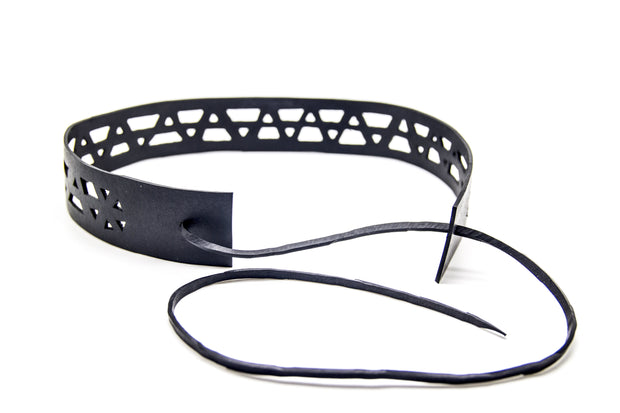 chic made consciously upcycled elastic headband made from tire inner tubes handmade in bali