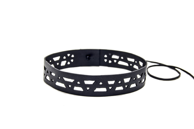 chic made consciously eco friendly headband handmade from tire inner tubes