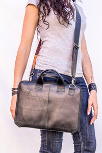 chic made consciously eco friendly laptop bag handmade from repurposed tire inner tubes