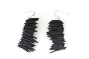 chic made consciously sustainable repurposed earrings made from tire inner tubes