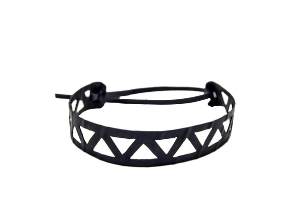 chic made consciously sustainable headband made from recycled tire inner tubes