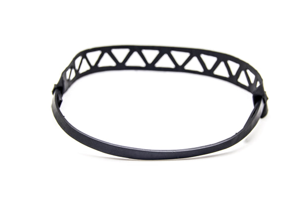 chic made consciously fair trade headband handmade from recycled tire inner tubes in bali