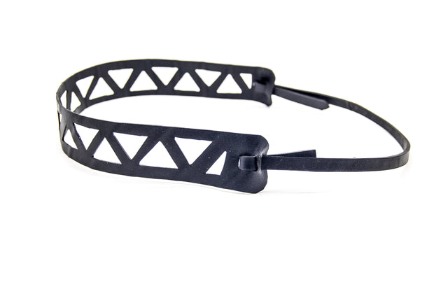 vegan ethically made headband made from upcycled tire inner tubes in bali