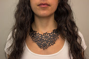 chic made consciously eco friendly flower necklace made from recycled tire inner tubes fair trade from bali