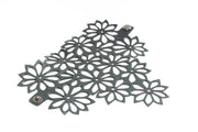 sustainable flower bracelet hand made from tire inner tubes in Bali