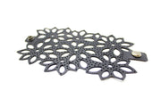 eco friendly flower bracelet with dots made from recycled tire tubes