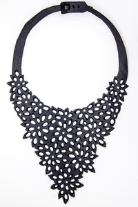 chic made consciously eco friendly blossom necklace made from upcycled tire inner tubes fair trade from bali