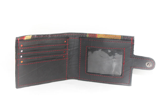 chic made consciously sustainable upcycled wallet made from tire inner tubes