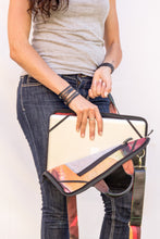 chic made consciously sustainable laptop bag handmade from upcycled tire inner tubes