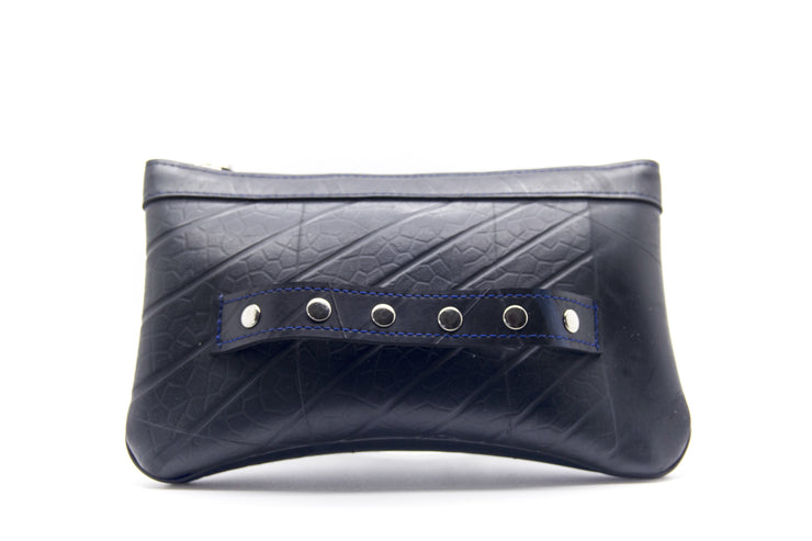 chic made consciously sustainable clutch handmade from upcycled tire inner tubes