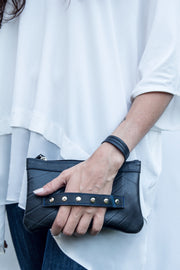 chic made consciously eco friendly clutch made from repurposed tire inner tubes