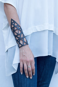 chic made consciously sustainable bracelet handmade from repurposed tire inner tubes