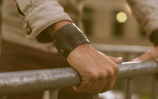 chic made consciously upcycled unisex bracelet made from tire inner tubes