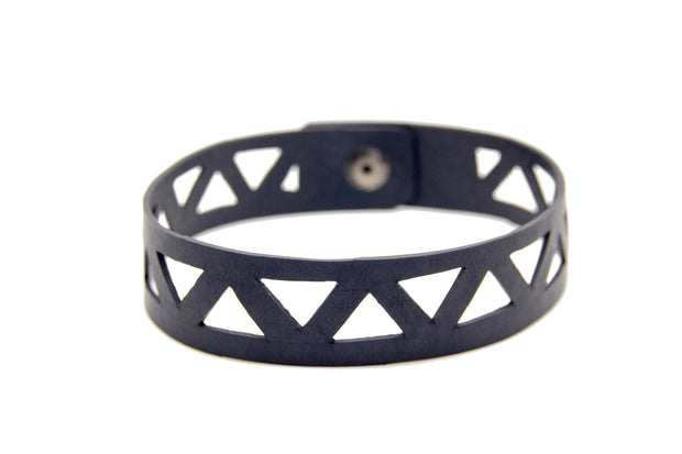 chic made consciously sustainable geometrical choker handmade from upcycled tire inner tubes