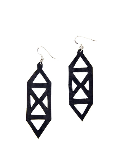 chic made consciously sustainable earrings handmade from upcycled tire inner tubes